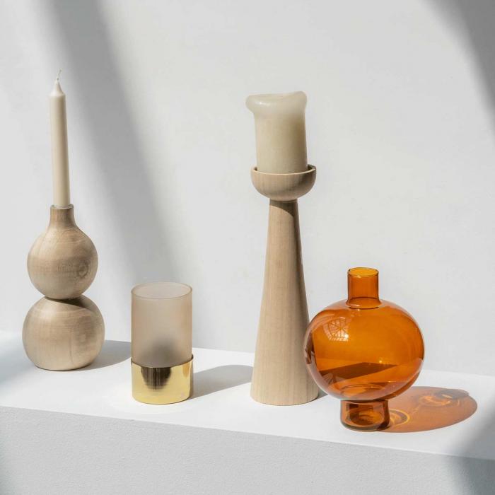 Golden oak - Vaso tondo