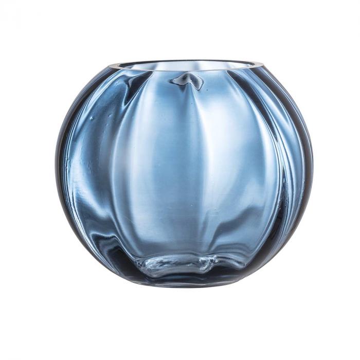Abas - Vaso in vetro azzurro