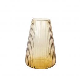 DIM Stripe large - vaso in vetro soffiato ambra