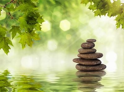 Il relax inizia dall'arredamento. Crea un'ambiente rilassante con le fotomurali zen