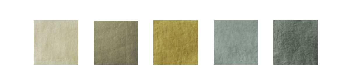 Cinque splendide sfumature di verde per cuscini di lino unici